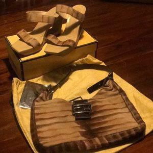 Pony hair Fendi bag and shoes